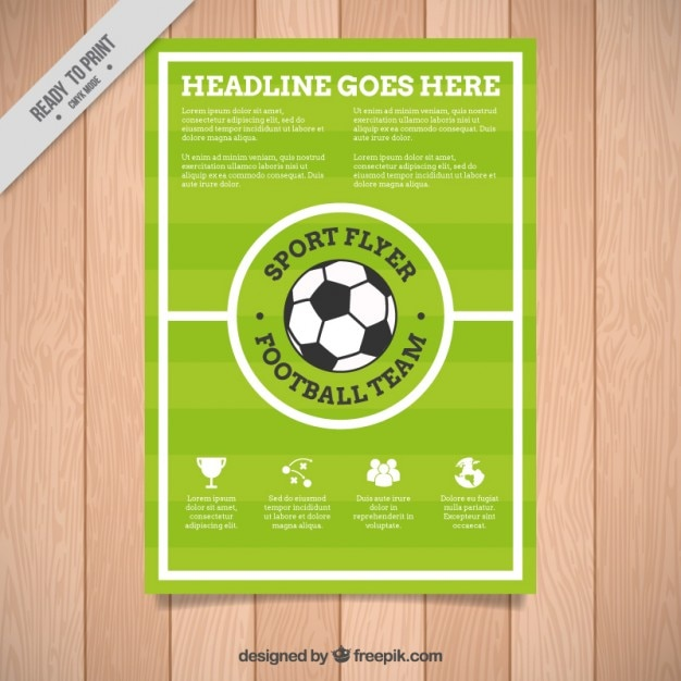 Football Brochure Template Vector  Free Download