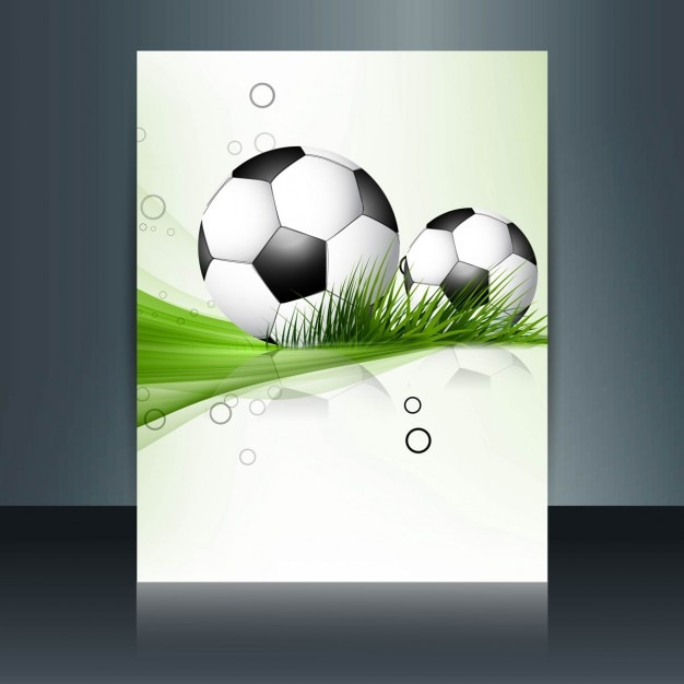 Football Brochure Vector Free Download