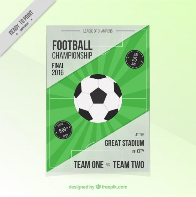 Football championship flyer Free Vector
