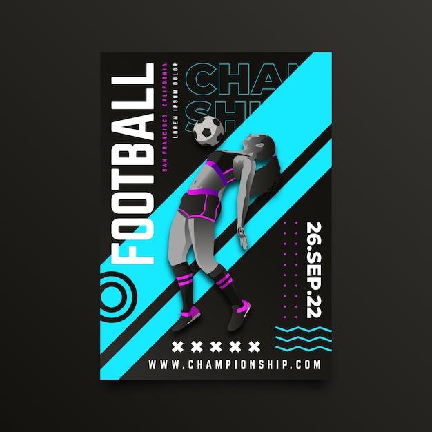 Design del poster del campionato di calcio Vettore gratuito