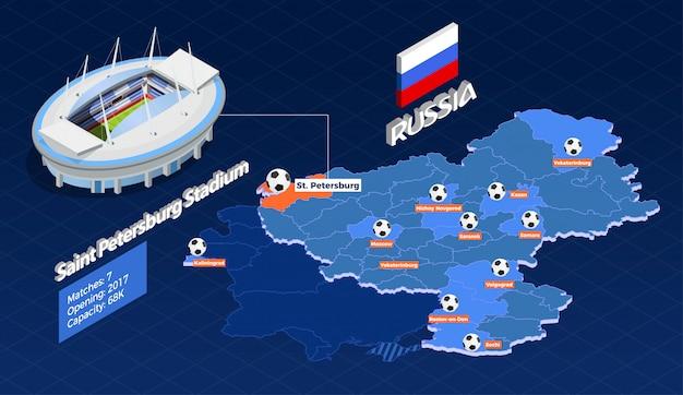 Football cup games infographic Vettore gratuito