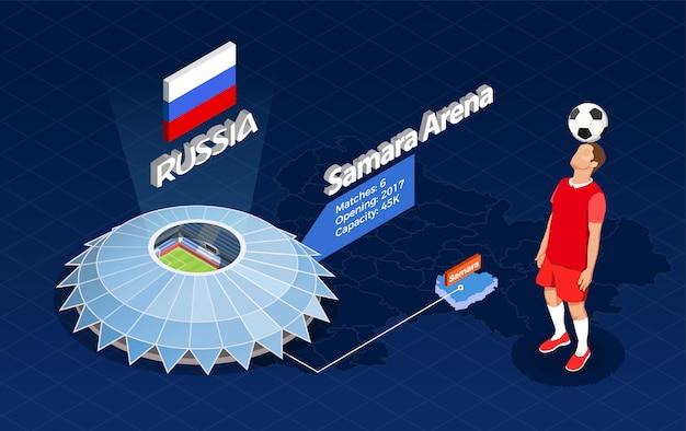 Illustrazione infografica coppa calcio Vettore gratuito
