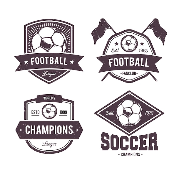 football emblems collection Free Vector
