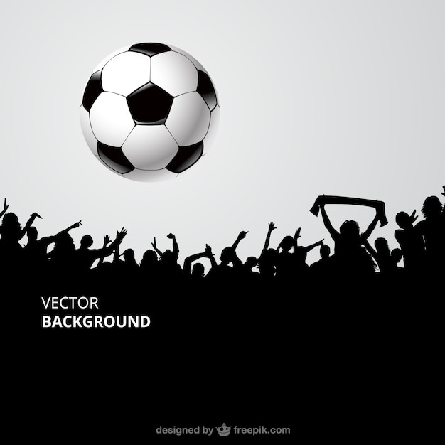 Football Fans Crowd Vector Free Download