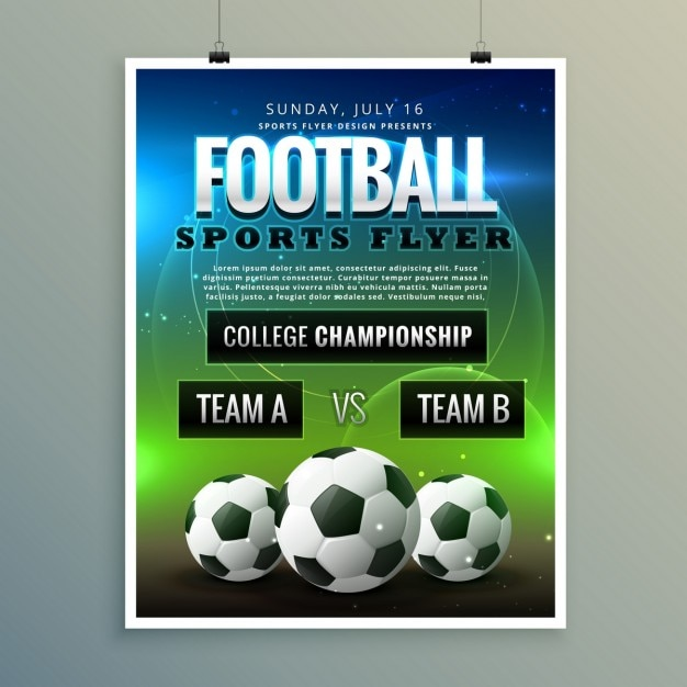 football flyer vector free download