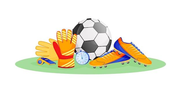 Football gear flat concept illustration Premium Vector