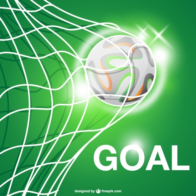 Football goal vector Free Vector