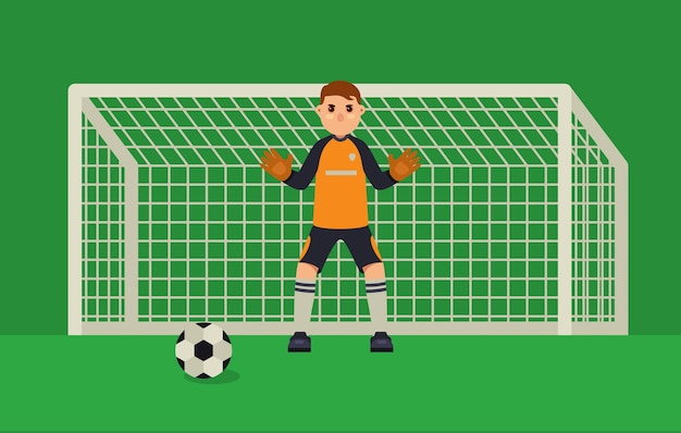 Football goalkeeper Premium Vector