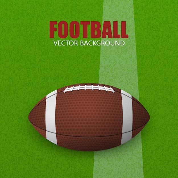 Football on a grass field. vector illustration. football ball on a grass field. Premium Vector