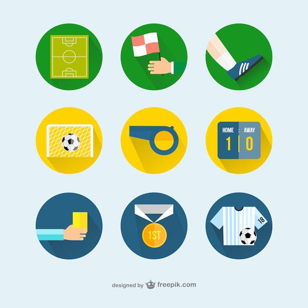 Football icons Free Vector