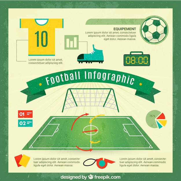 Football infographic Free Vector