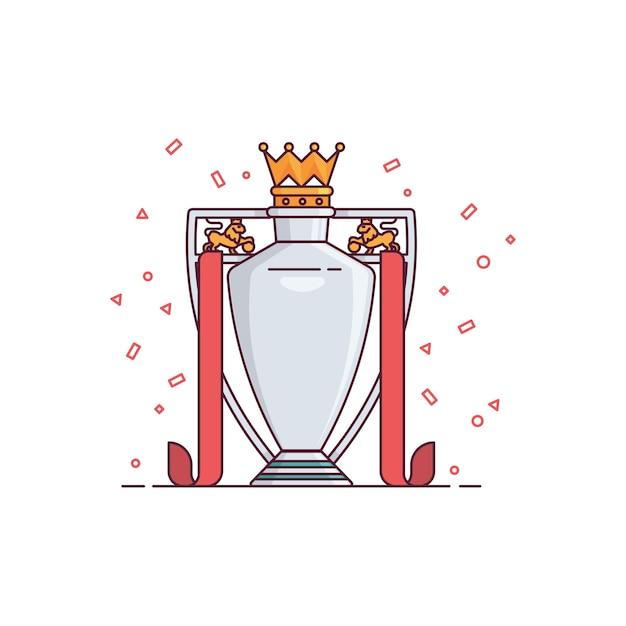 Иллюстрация трофей футбольной лиги Premium векторы