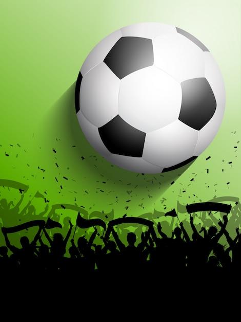 サッカーまたはサッカーの群衆 無料ベクター