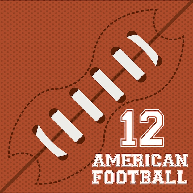 Football  over orange   illustration Free Vector