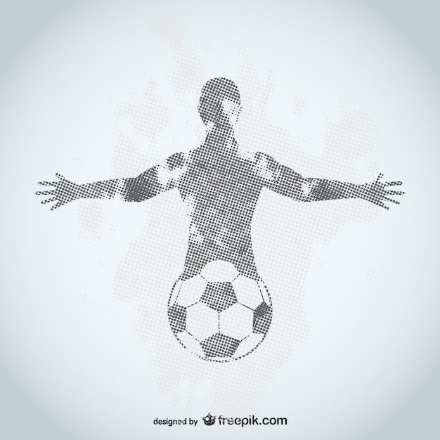 Football player grunge design Free Vector