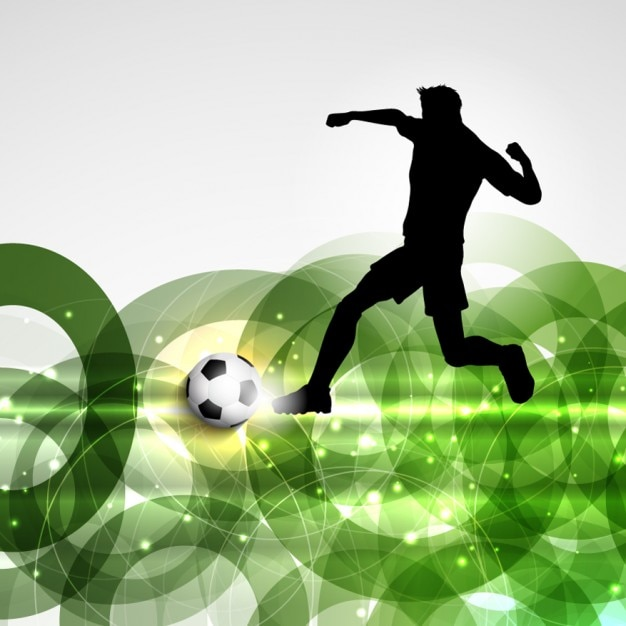 Football player on a abstract background