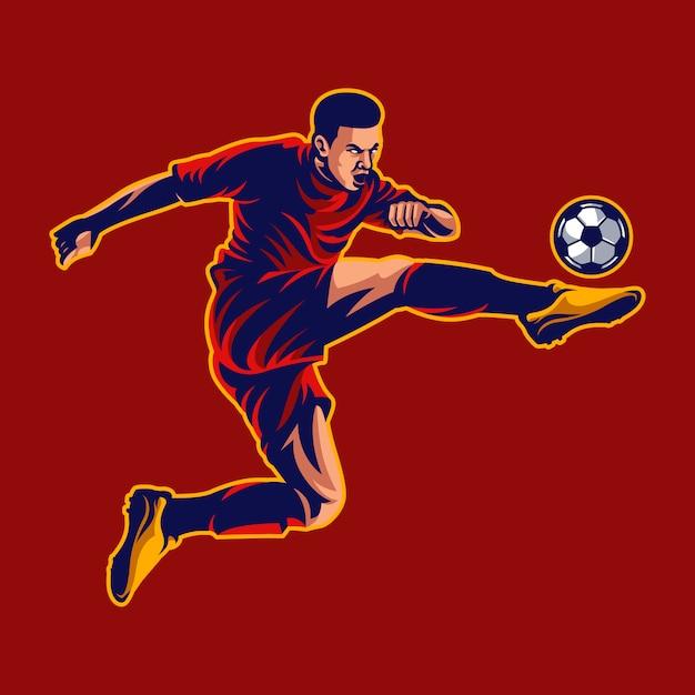 Football player vector Premium Vector