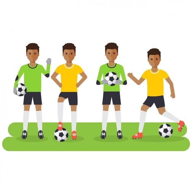 Football players design