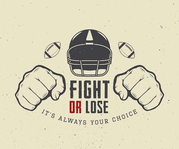 Football or rugby motivation Premium Vector
