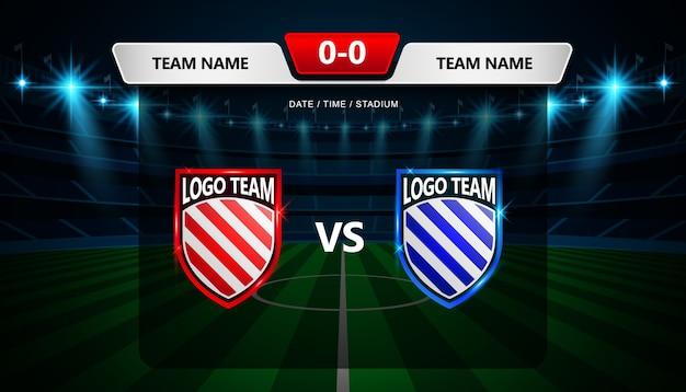 football scoreboard broadcast graphic template vector