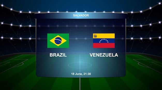 Футбольное табло трансляции графики Premium векторы