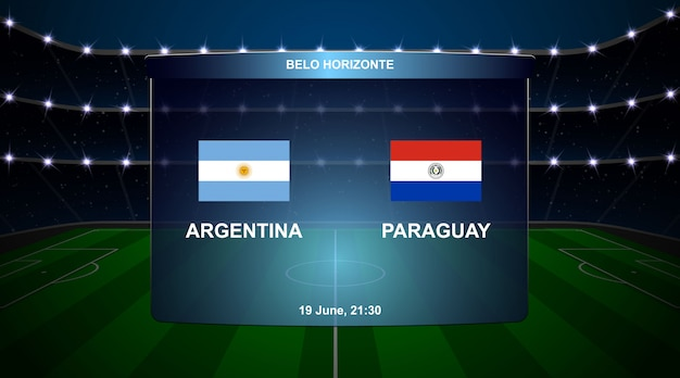 Football scoreboard broadcast graphic Premium Vector