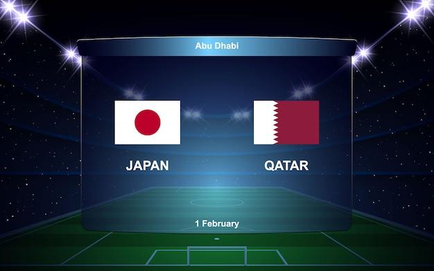 Football Scoreboard Broadcast Vector Premium Download