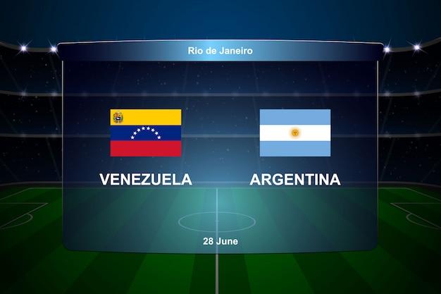 Football scoreboard broadcast Premium Vector