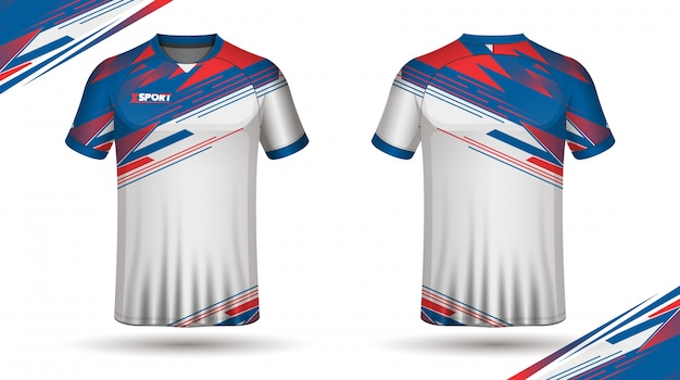 Football shirt template back and front Premium Vector