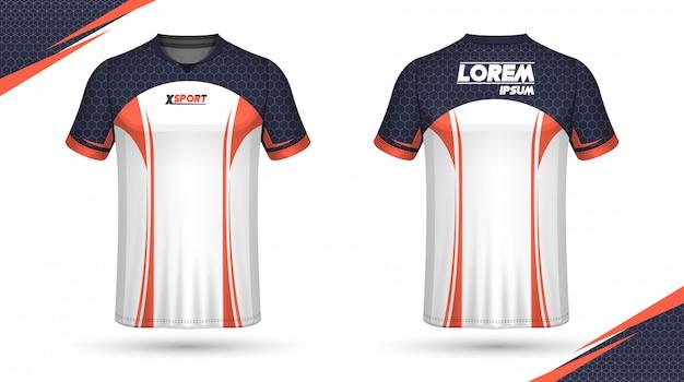 Football shirt template Premium Vector