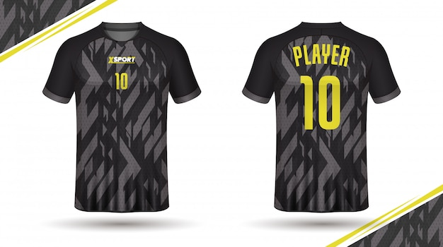 Football shirt template Premium Vector