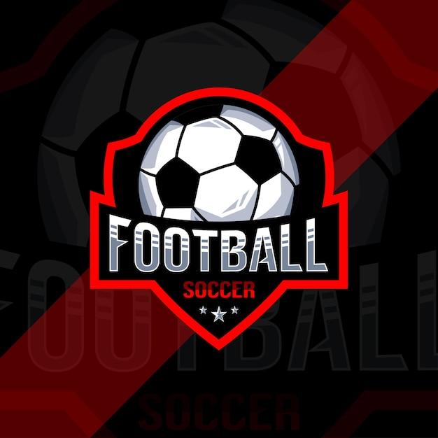 Дизайн логотипа чемпионата по футболу Premium векторы
