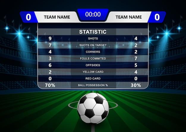 Football soccer statistics and scoreboard template Vector