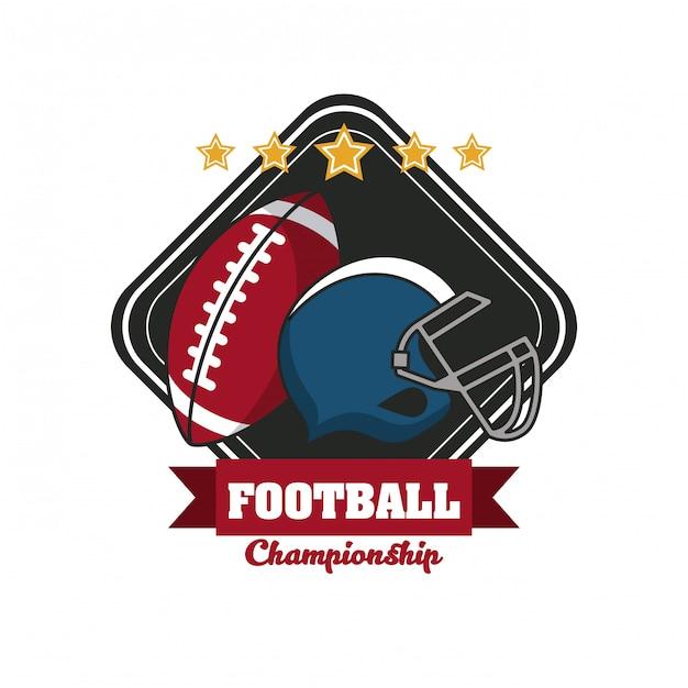 Football sport championship tournament emblem Premium Vector