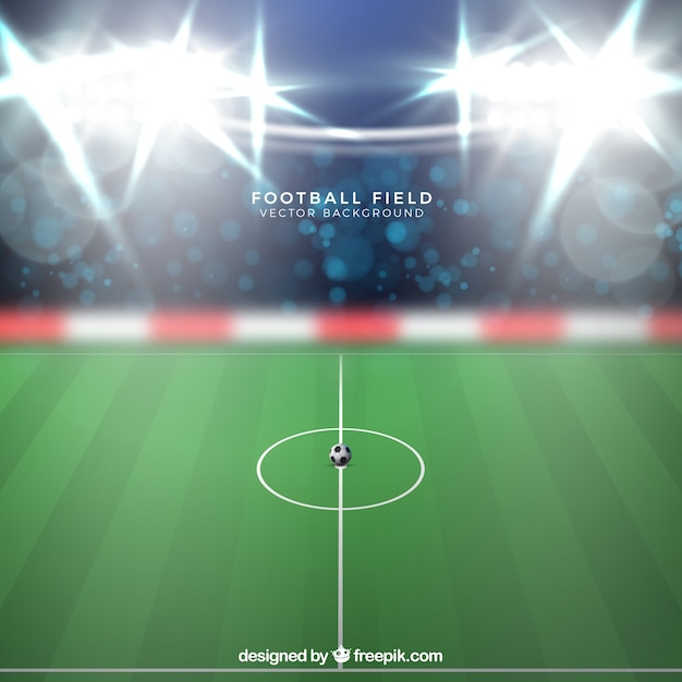 Football stadium background in realistic\ style