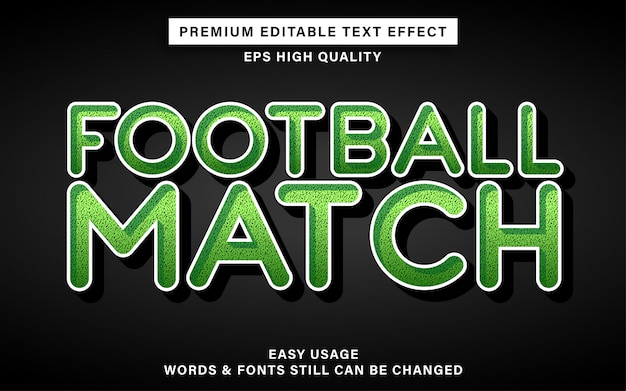 Football style text effect Premium Vector