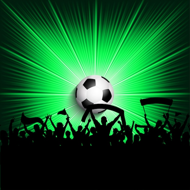 Football supporters background Free Vector