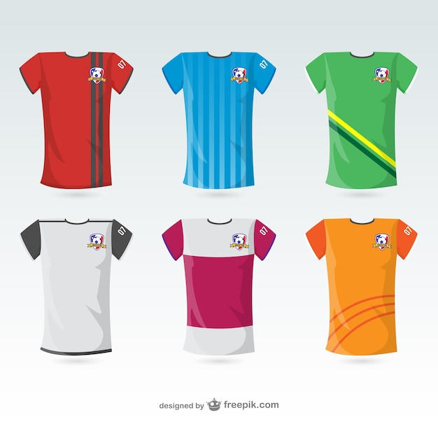 Football t shirts Vector Free Download