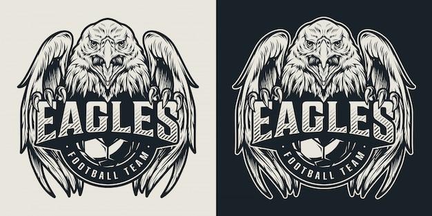 Футбольная команда винтажный логотип Бесплатные векторы