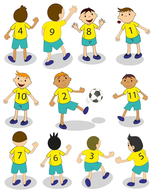 Football team Vector | Free Download