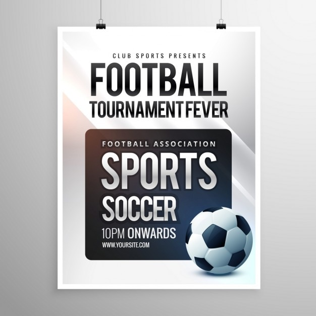 Football Tournament Invitation Vector Free Download