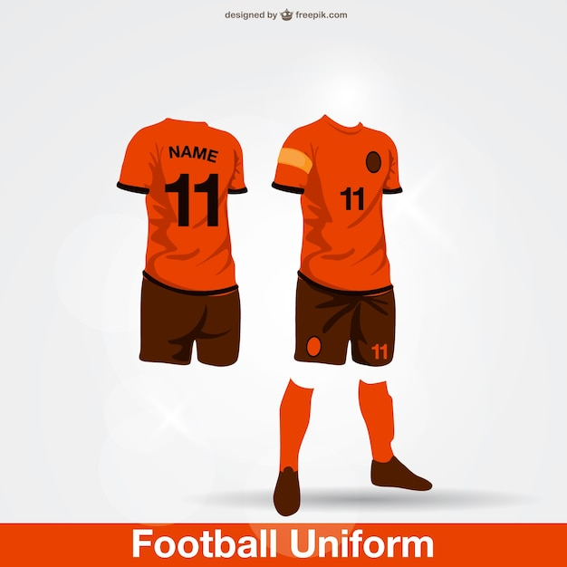 football uniform vector | free download