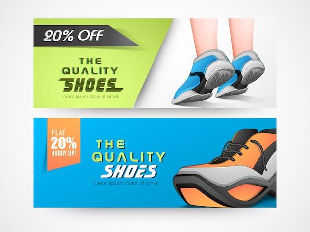 Vector   Footwear sale website headers
