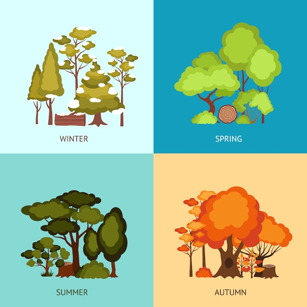 Forest design concept Free Vector