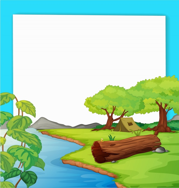 Forest scene Free Vector
