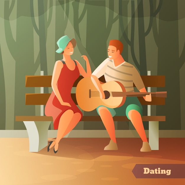 Forest serenade dating background Free Vector