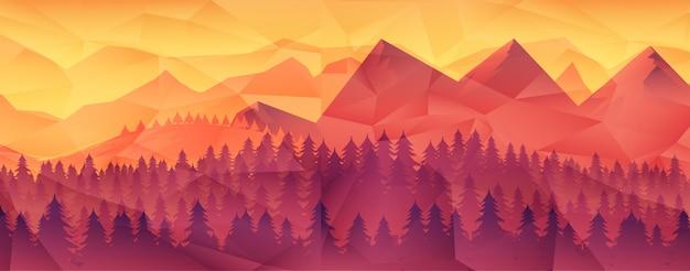 Forest wilderness landscape. Premium Vector