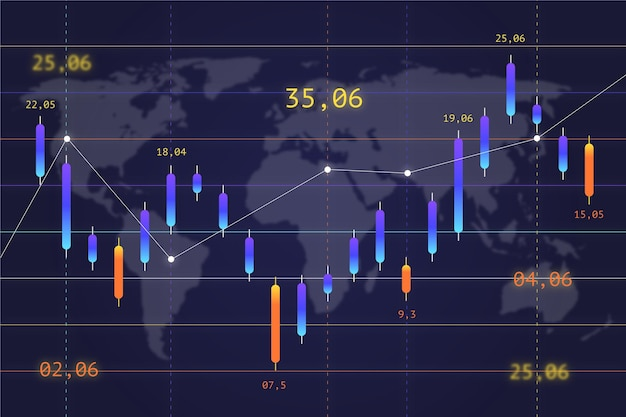 Форекс торговая концепция фона Бесплатные векторы