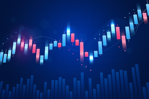 Forex trading background concept Free Vector