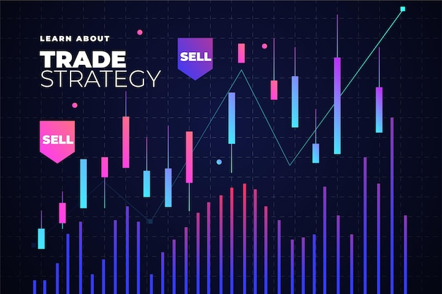 Forex trading background with chart Free Vector